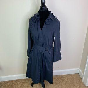 T Tahari Shirt Dress Belt Navy Blue